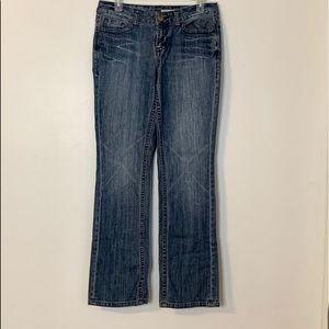 DKNY Studded Straight Light Distress Jeans Sz 10